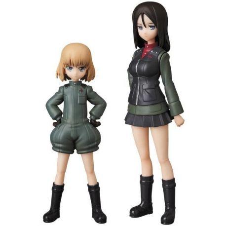 Girls und Panzer mini figurines Medicom UDF Katsyusha & Nonna Medicom