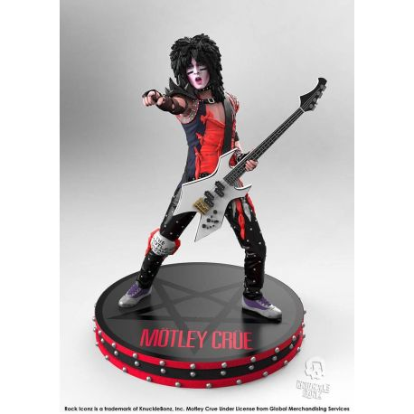 Mötley Crüe statuette Rock Iconz 1/9 Nikki Sixx Knucklebonz