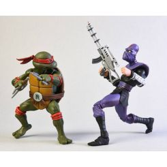 Les Tortues ninja pack 2 figurines Raphael vs Foot Soldier NECA