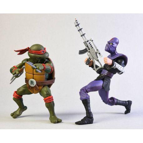 Les Tortues ninja pack 2 figurines Raphael vs Foot Soldier NECA