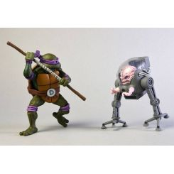 Les Tortues ninja pack 2 figurines Donatello vs Krang in Bubble Walker NECA