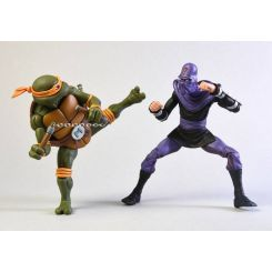 Les Tortues ninja pack 2 figurines Michelangelo vs Foot Soldier NECA
