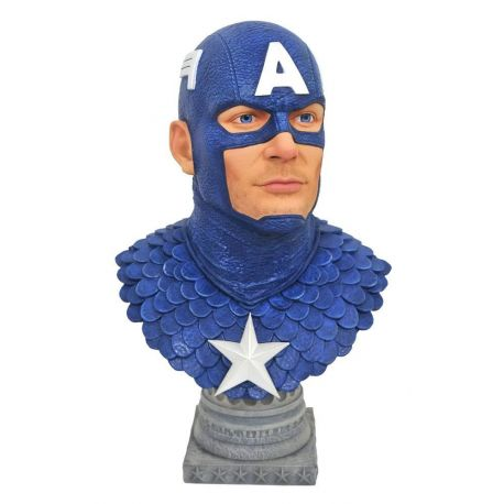Marvel Comics Legends in 3D buste 1/2 Captain America Diamond Select