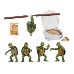 Les Tortues ninja pack 4 figurines Baby Turtles NECA