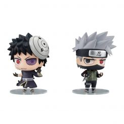 Naruto pack 2 trading figures Chimimega Buddy Series Kakashi Hatake & Obito Uchiha Set Megahouse