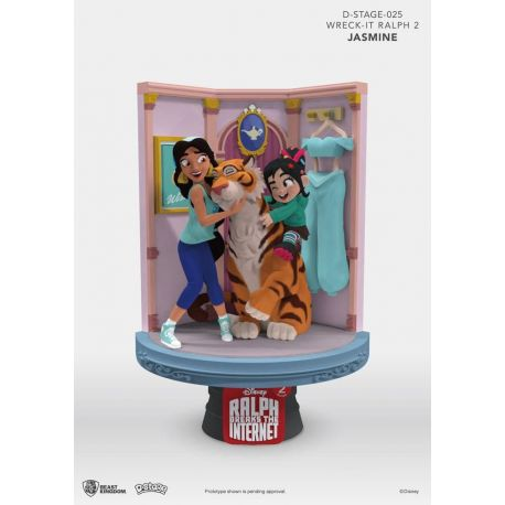 Ralph 2.0 diorama D-Stage Jasmine & Vanellope Beast Kingdom Toys