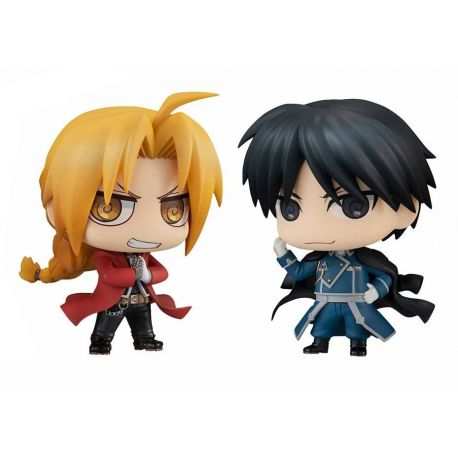 Fullmetal Alchemist pack 2 figurines Chimimega Buddy Series Edward Elric & Roy Mustang Set Megahouse