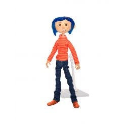 Coraline figurine in Striped Shirt and Jeans Neca