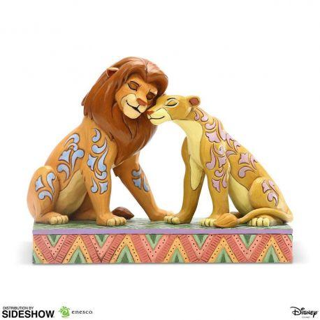 Disney statuette Simba and Nala Snuggling by Jim Shore (Le Roi Lion) Enesco