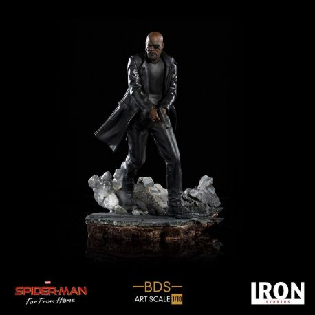 Spider-Man Far From Home statuette BDS Art Scale Deluxe 1/10 Nick Fury Iron Studios