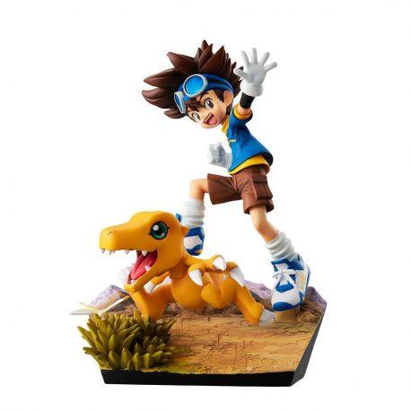 Digimon Adventure G.E.M. Series figurine Taichi Yagami & Agumon 20th Anniversary Megahouse