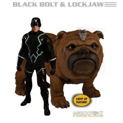 Marvel Universe figurines 1/12 Black Bolt & Lockjaw lumineuse Mezco Toys