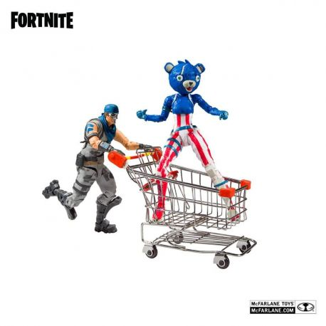 Fortnite figurines Shopping Cart Pack War Paint & Fireworks Team Leader McFarlane Toys