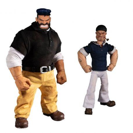 Popeye figurines 1/12 Popeye & Bluto Stormy Seas Ahead Deluxe Box Set Mezco Toys