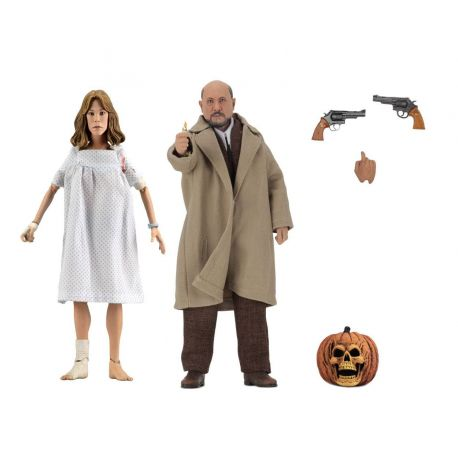 Halloween 2 Le Masque pack 2 figurines Retro Doctor Loomis & Laurie Strode Neca