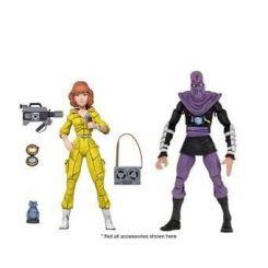 Les Tortues ninja pack 2 figurines April O'Neil & Foot Soldier Neca
