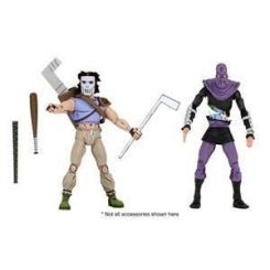 Les Tortues ninja pack 2 figurines Casey Jones & Foot Soldier Neca