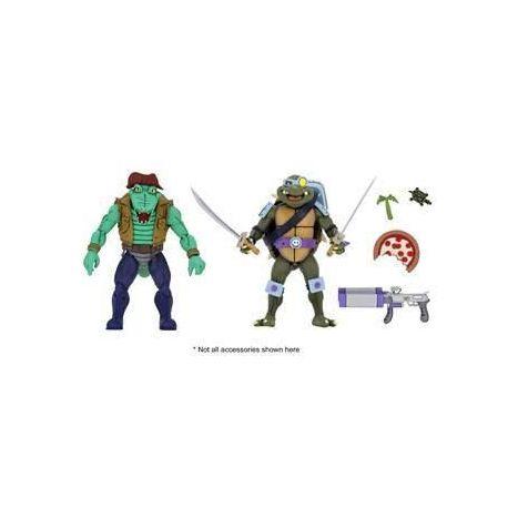 Les Tortues ninja pack 2 figurines Leather Head & Slash Neca