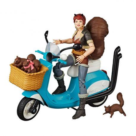 Marvel Legends Series figurine avec véhicule Squirrel Girl Hasbro