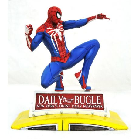 Marvel Gallery diorama PS4 Spider-Man on Taxi Diamond Select