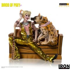 Birds of Prey statuette 1/10 Deluxe Art Scale Harley Quinn & Bruce Iron Studios