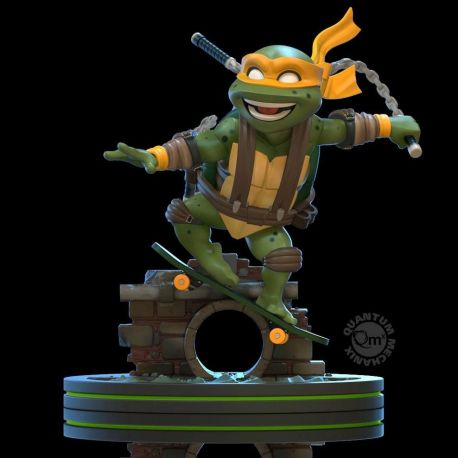 Tortues Ninja figurine Q-Fig Michelangelo Quantum Mechanix