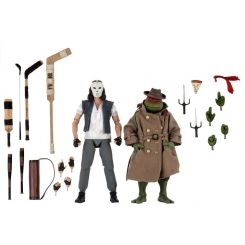 Les Tortues ninja pack 2 figurines Casey Jones & Raphael in Disguise Neca
