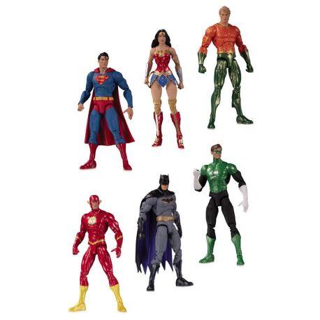 DC Essentials pack 6 figurines Justice League DC Direct