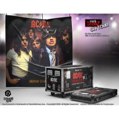 AC/DC statuette Rock Ikonz On Tour Highway to Hell caisse de tournée + décor de scène Knucklebonz