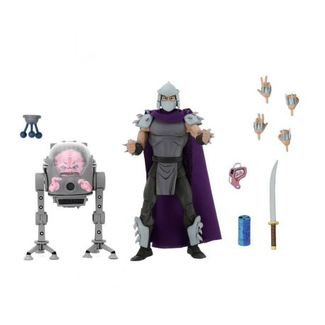 Les Tortues ninja pack 2 figurines Shredder vs Krang in Bubble Walker Neca