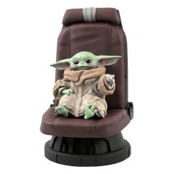 Star Wars The Mandalorian statuette Premier Collection 1/2 The Child in Chair Diamond Select