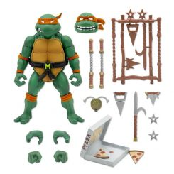 Les Tortues ninja figurine Ultimates Michaelangelo Super7