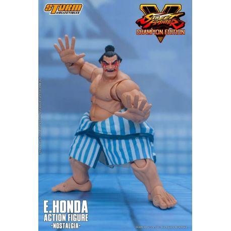Street Fighter V Champion Edition figurine 1/12 E. Honda Nostalgia Costume Storm Collectibles