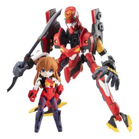 Evangelion figurines Desktop Army Ayanami Shikinami Asuka Langley & Evangelion 2 Megahouse