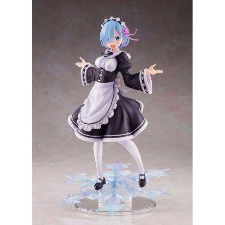 Re:Zero statuette AMP Rem Winter Maid Image Ver. Taito Prize