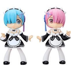 Re: Zero -Starting Life in Another World- figurines Soft Vinyl Yurumari Rem & Ram Fine Clover