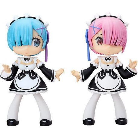 Re: Zero -Starting Life in Another World- figurines Soft Vinyl Yurumari Rem & Ram Fine Clover