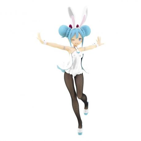 Vocaloid statuette BiCute Bunnies Hatsune Miku White Ver. Furyu