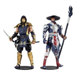 Mortal Kombat pack 2 figurines Scorpion & Raiden McFarlane Toys