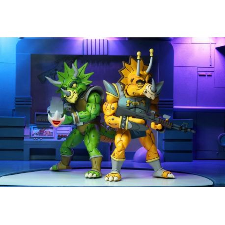 Les Tortues ninja pack 2 figurines Captain Zarax & Zork Neca