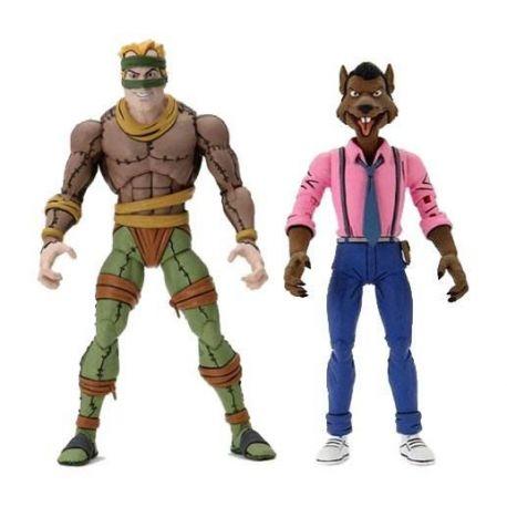 Les Tortues ninja pack 2 figurines Rat King & Vernon Neca