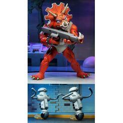 Les Tortues ninja pack 2 figurines Triceraton Infantryman & Roadkill Rodney Neca