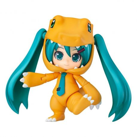 Character Vocal Series 01 figurine Nendoroid Hatsune Miku: Kigurumi Agumon Ver. Good Smile Company