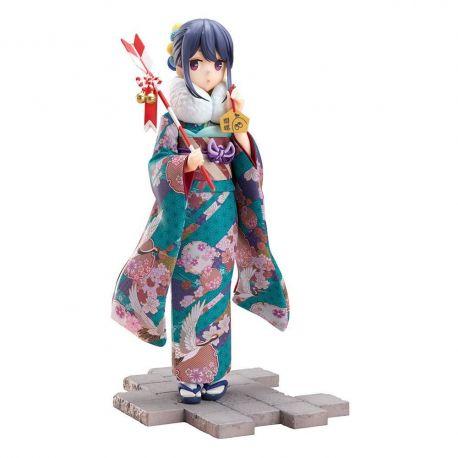Laid-Back Camp statuette 1/7 Rin Shima Furisode Ver. Furyu