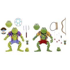 Les Tortues ninja pack 2 figurines Genghis & Rasputin Frog Neca