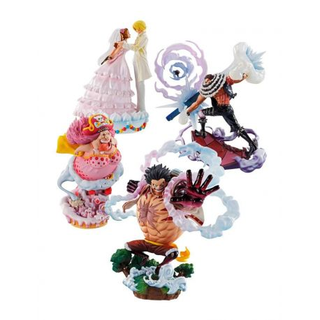 One Piece Log Box pack 4 trading figures Re: Birth Whole Cake Island Ver. Megahouse