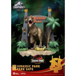 Jurassic Park diorama D-Stage Park Gate Beast Kingdom Toys