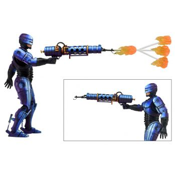 RoboCop vs. The Terminator VideoGame série 2 figurine RoboCop Flamethrower NECA