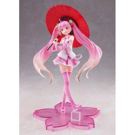 Vocaloid statuette Sakura Miku 2nd Season New Written Japanese Umbrella Ver. Taito Prize