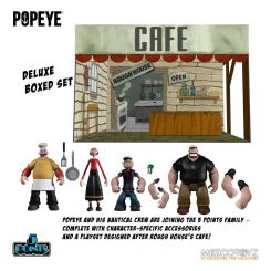 Popeye figurines 5 Points Deluxe Box Set Mezco